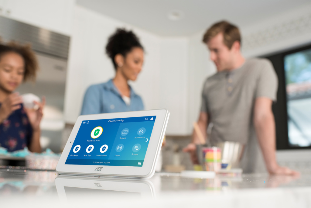 Touchscreen panel for home